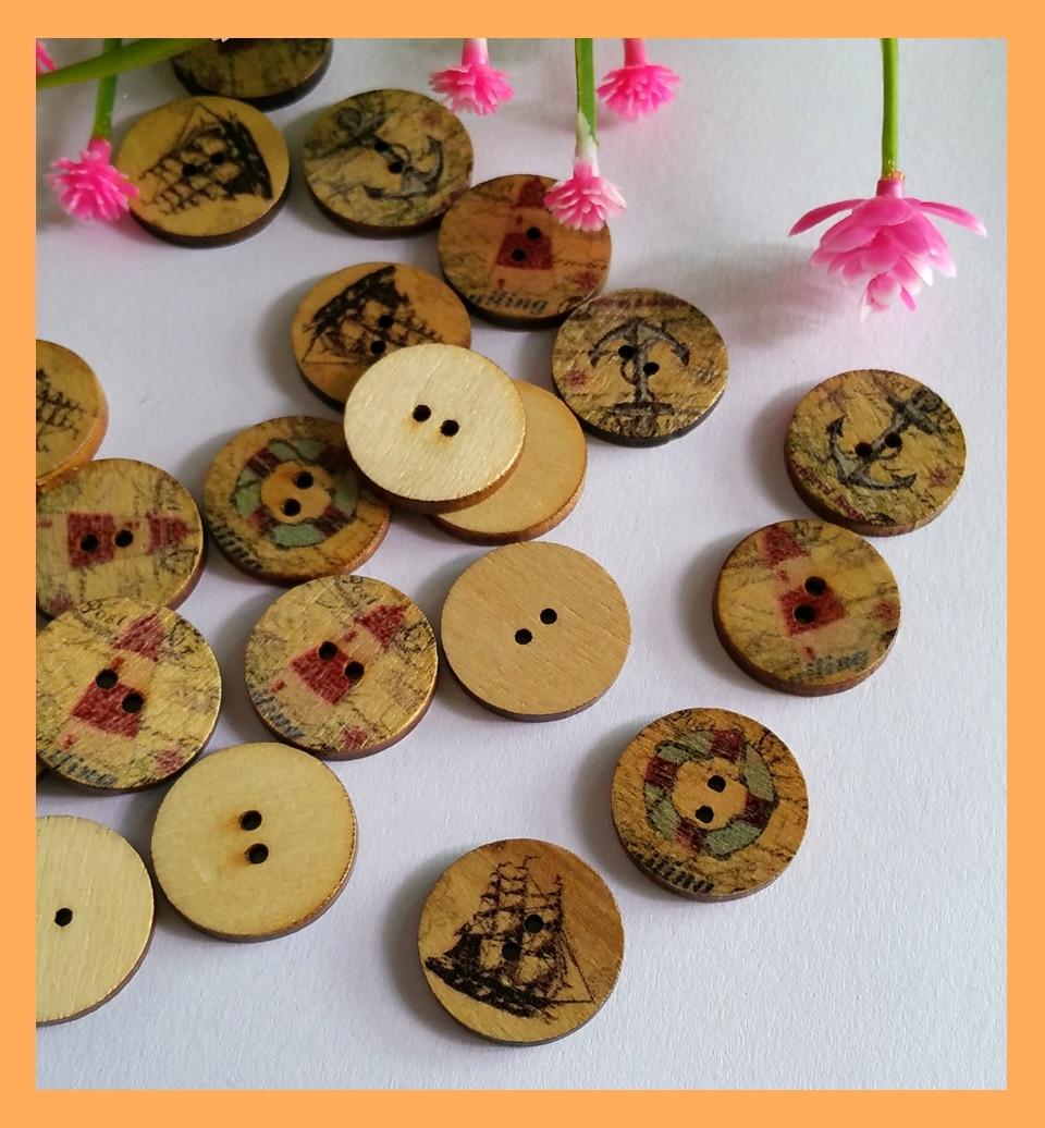"""100Pcs 5//8/"""" Gold Tone Ancre Boutons Plastique Cabochon boutons coupe couture 15.0 mm"""