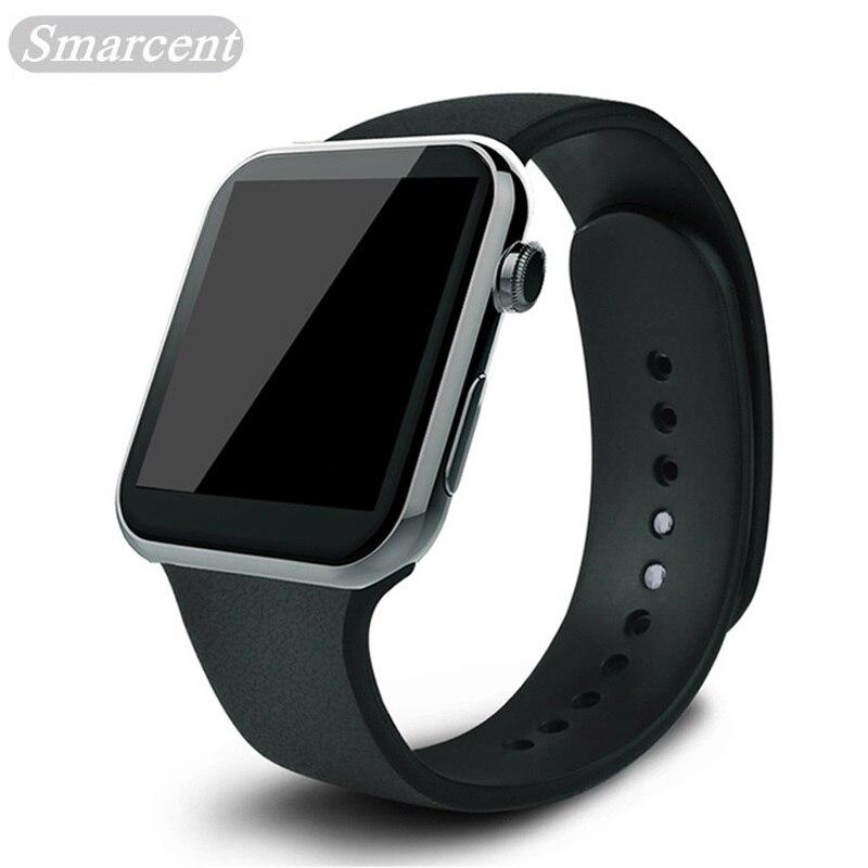 imágenes para Smarcent smartwatch smart watch a9 para apple iphone ios android smartphone relojes con ritmo cardiaco relogio reloj inteligente nuevo