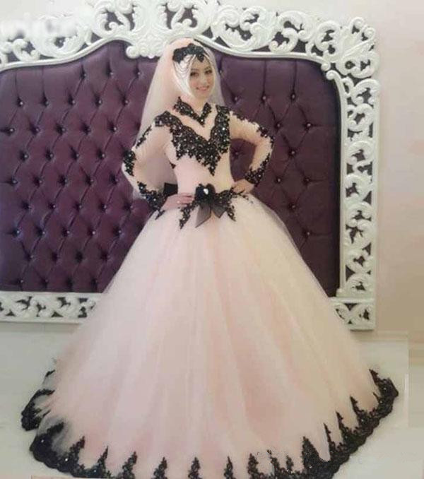 Gorgeous Ball Gown Tulle Wedding Dress 2019 High Neck Long