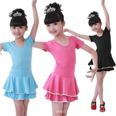 Children's Latin dance skirt children dance girls dance clothing costumes