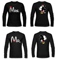 Funny Men and Women Lover shirts Mr and Mrs, Kissing Cartoons Couple Matching T shirts. Valentine's Day Gift Christmas Shirts