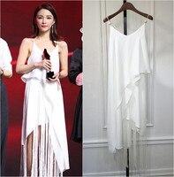 Brand Fashion Women S High End Luxury Elegant Sexy Temperament Was Thin Pearl Halter Irregular Tassel