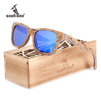 BOBO BIRD Brand Unique Wood Sunglasses Women Men Luxury Polarized Color Sun Glasses Retro With Memorial