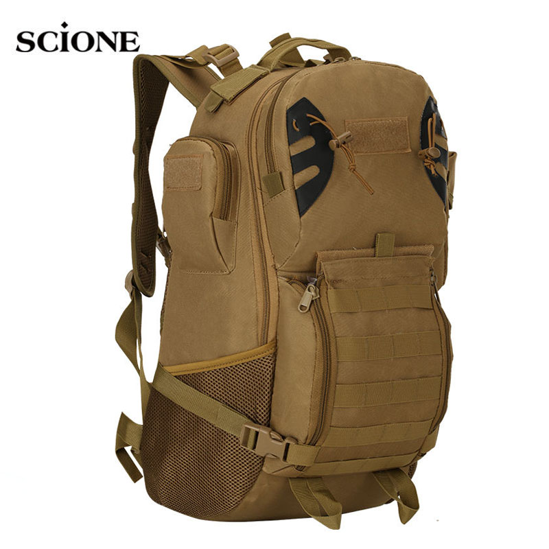 45L Men Women Military Army Backpack Tactical Trekking Camouflage Rucksack Molle Tactical Bag Pack Travel Waterproof Bags X422WA 35l men women military backpack waterproof nylon fashion male laptop back bag female travel rucksack camouflage army hike bags