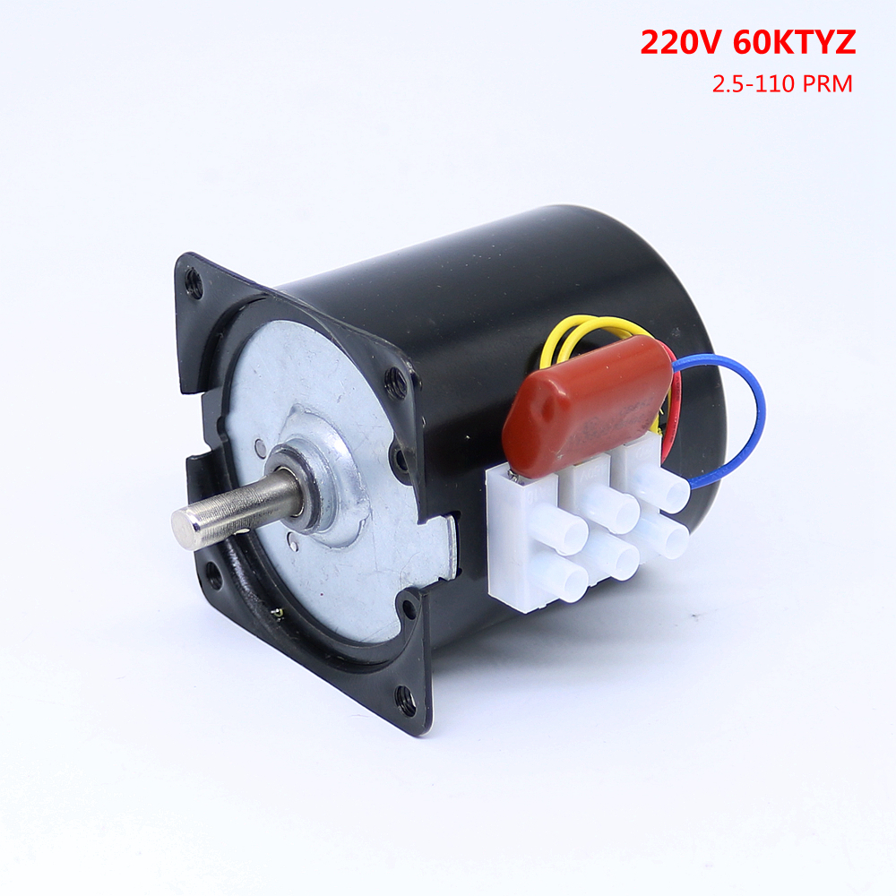 AC 220V 14W High Torque 50Hz Gear-Box 60KTYZ Synchronous Gear Motor Replacement beibehang wallpaper vertical stripes 3d children s room boy bedroom mediterranean style living room wallpaper page 7