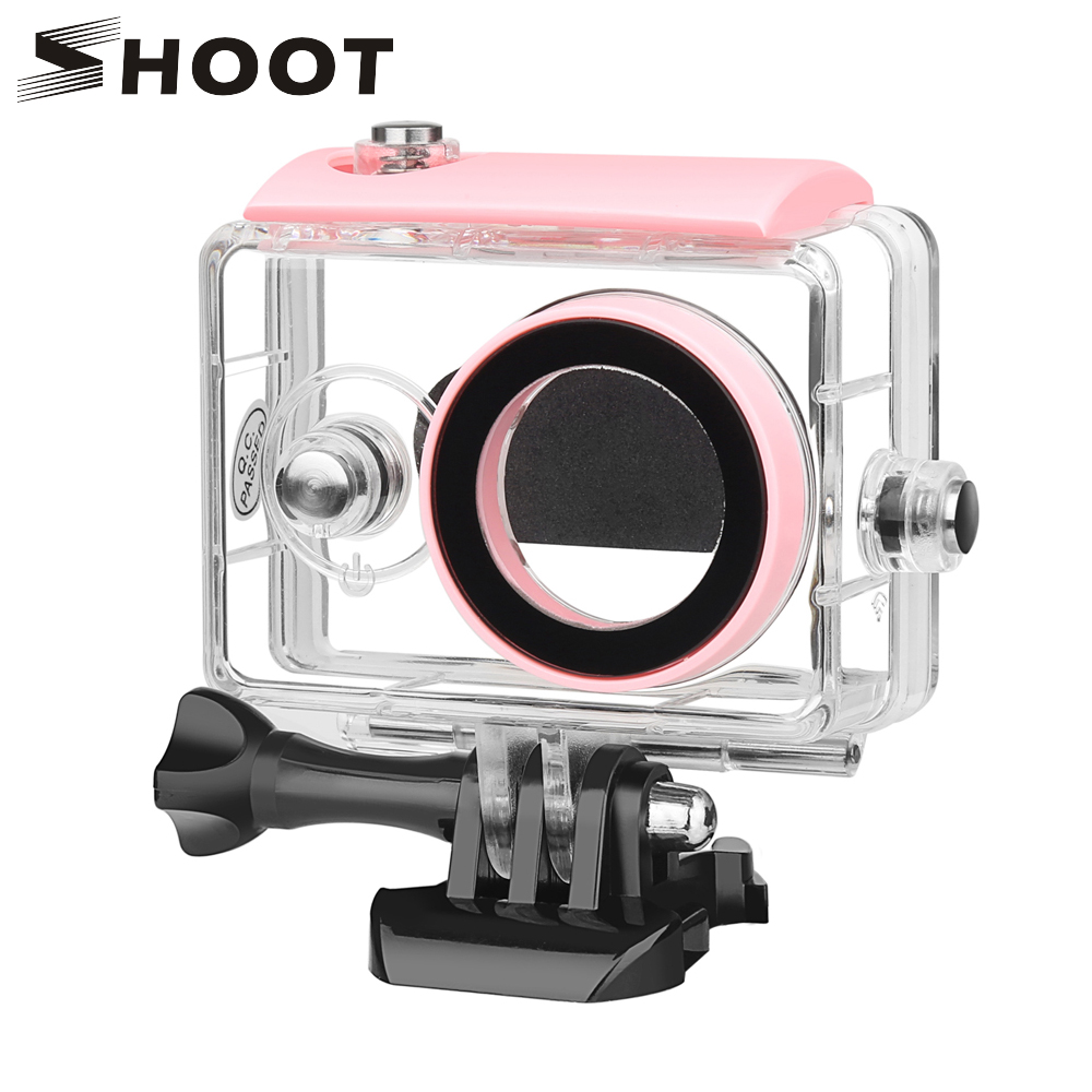 SHOOT 40M Waterproof Housing Case For Xiaomi Yi 2K Xiaoyi Xiayi Action Camera Waterproof case For Xiaomi Yi 1st Cam Accessories original xiaomi yi action camera 2 waterproof case