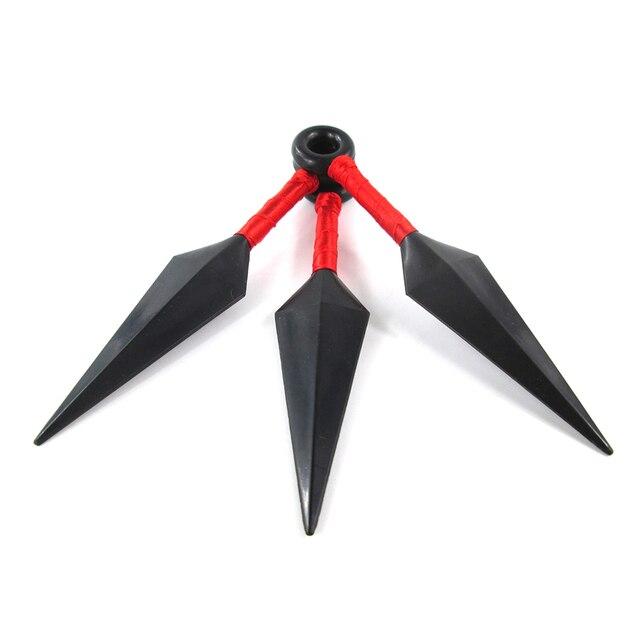 ELBCOS Boruto Sasuke Kakashi Sakura Didara Hidan Uchiha Itachi Orochimaru Ninja Cosplay Kunai 3pc/set 1