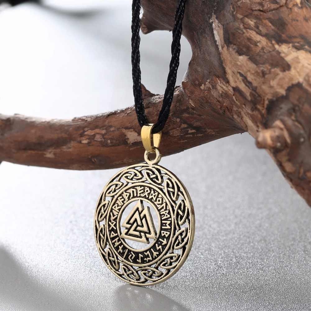 QIMING Celtica Infinity Nodi Rune Runic Norse Gioielli Puck Collana Valknut Vikings Wikinger Argento di Fascino Del Pendente Della Collana