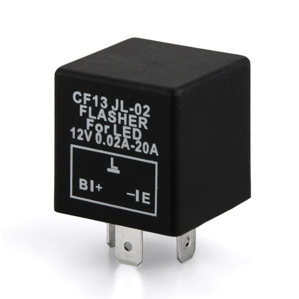 2pcs 3 Pin Car Flasher Relay to Fix Turn Singnal LED Light Blink Flash