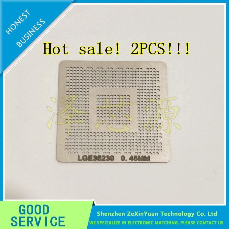 2pcs/lot LGE35230 35230 LCD 0.45 MM aquecimento direto BGA Template Stencil 2pcs lot a3p060 fgg144 a3p060 bga