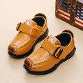 Couro genuíno shoes meninos das crianças primavera outono esporte casual shoes estilo britânico para crianças excelente qualidade sneakers shoes