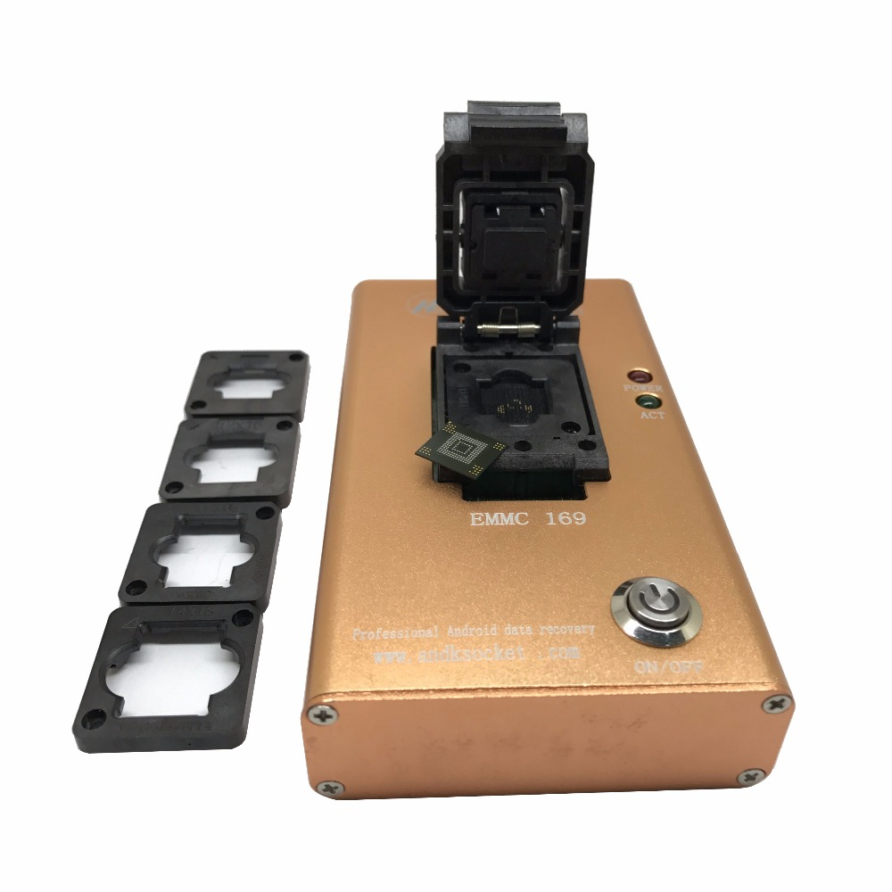 1pcs eMMC169 flip + metal box to USB3.0 female mouth test stand eMMC153 to USB3.0 test seat leon angel test3 to