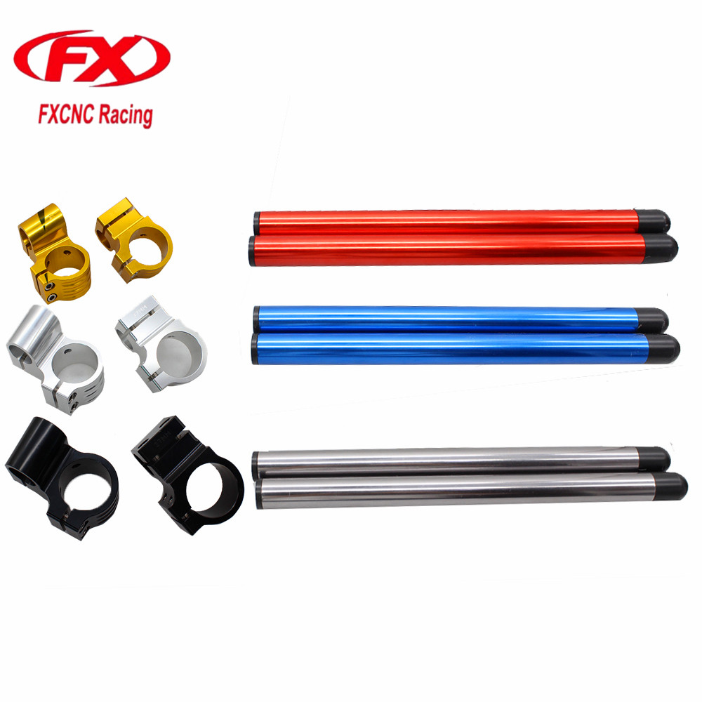 FX CNC 7/8 37mm Motorcycle HandleBars Regular And Riser Clip Ons Fork Handle Bars Clip-on For KAWASAKI Ninja 250R 2005 - 2010 motorcycle handlebars clip on for kawasaki zx6r 600cc zx9r 900cc 1998 2002 page 2