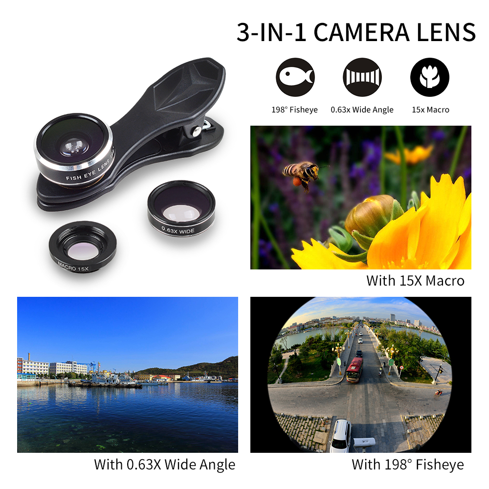 APEXEL 6IN1 phone camera lens 12X Telescope telephoto Zoom+fisheye wide angle macro Lens kit For iPhone7 6S plus Samsung s8 21