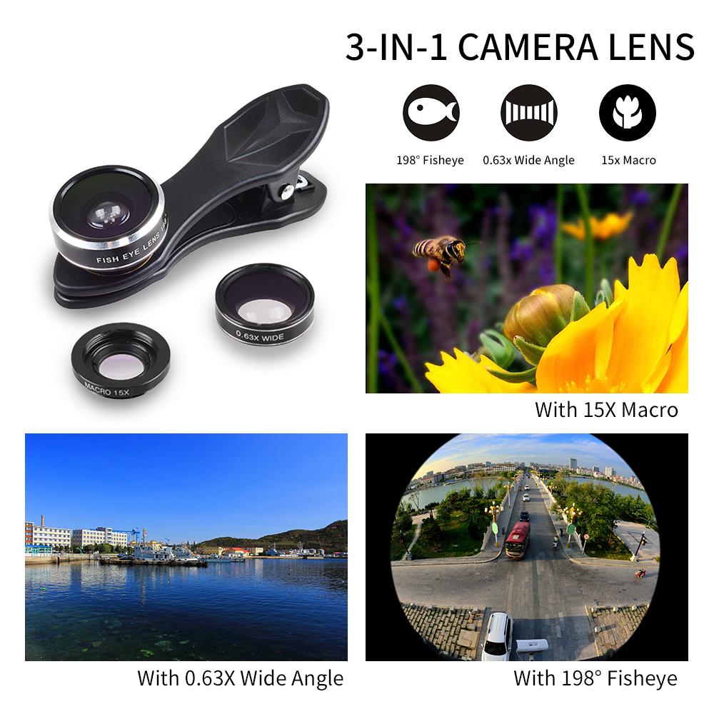 APEXEL 6IN1 phone camera lens 12X Telescope telephoto Zoom+fisheye wide angle macro Lens kit For iPhone7 6S plus Samsung s8 21