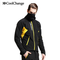 CoolChange Bicycle Long Sleeve Cycling Jersey Suit Male Winter Warm Outdoor Bike Coat Riding Pants Mountain