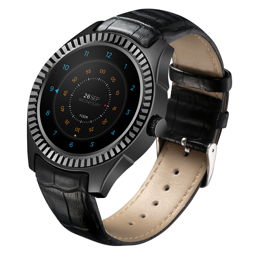 DTNO.I D7 3G Smartwatch Phone 1.3 Inch Android 4.4 MTK6572 1.2GHz Dual Core 1GB RAM 8GB ROM Bluetooth 4.0 Heart Rate Measurement 9 inch p900 android 4 2 3g phablet with wvga screen mtk6572 dual core 1 0ghz 8gb rom dual cameras fm functions