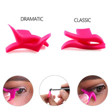 DIY 2 PCS/Set Cat Line Stencils Pro eye makeup kit for Women eye Template Shaper Model Easy to make up set massage tools