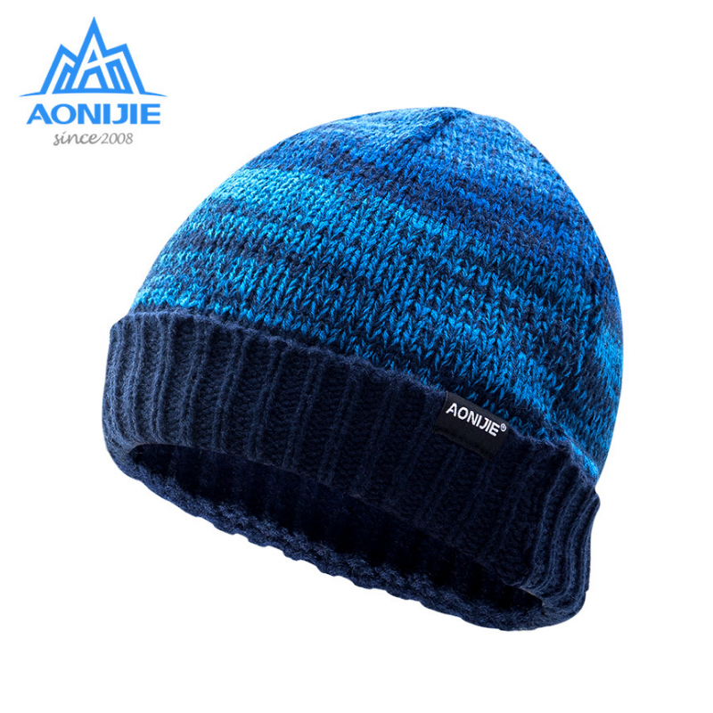 AONIJIE men women knitted hat High-Quality autumn winter running hikking traveling caps Warm breathable male female cap visnxgi new 2017 thick cotton cap men women winter warm hot sale high quality knitting brand casual hat female skullies beanies