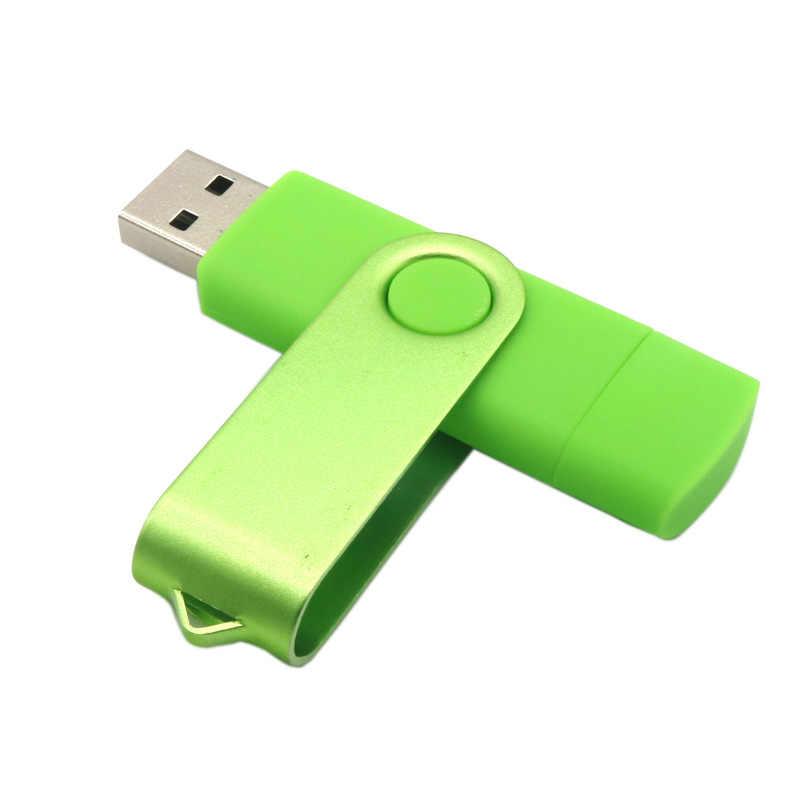 القلم محرك وتغ محرك فلاش usb 128 جيجابايت 64 جيجابايت ميموريا ذاكرة يو إس بي على شكل مفتاح الهاتف الذكي بندريف Cle USB عصا هدية