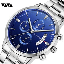 VA VA VOOM Mens Watches Top Brand Luxury Calendar Fashion Watch 3Bar Waterproof Quartz Wristwatches relogio masculino VA-G001 цены онлайн