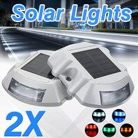 2 PCS الشمسية LED للماء المسار ضوء مصباح حوض درب مسار خطوة الطريق ساحة 5 اللون في الهواء الطلق مسار مصباح