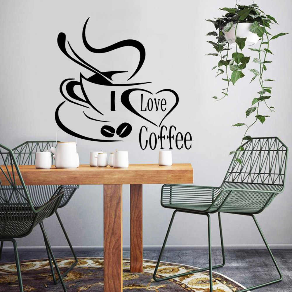 PVC Wall Windows Stickers Catering Kitchen Decor Art Decal Waterproof Removeable
