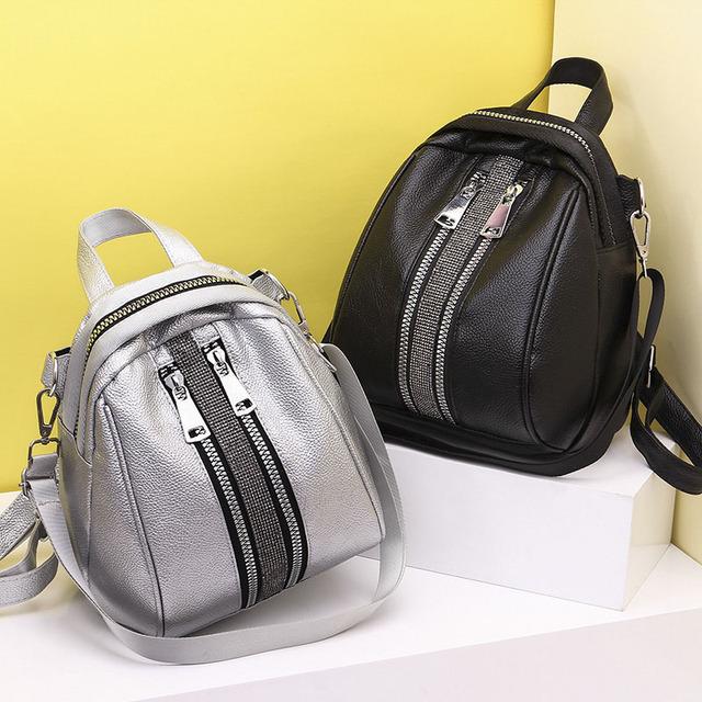 Women Backpack High Quality PU Leather Backpacks for Teenage Girls Female School Shoulder Bag Bagpack Shell Type mochila XA504H