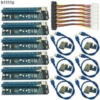 6pcs 006C USB 3 0 PCI E Express 1X 4x 8x 16x Extender Riser Adapter Card