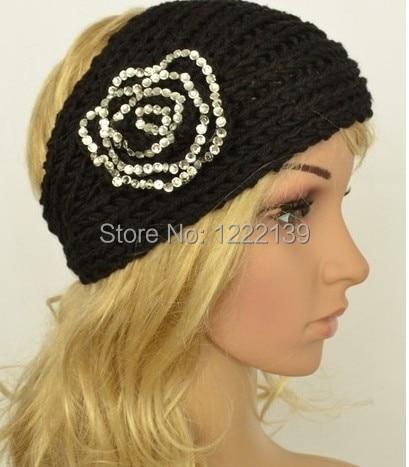 Best Selling Fashion Rhinestone Flower Pattern Handmade Headband