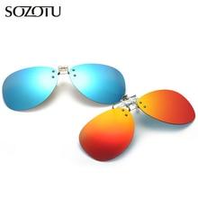 b28246decf Fashion Aviation Clip On Polarized Sunglasses Men Driver Night Vision Lens  Pilot Sun Glasses For Male