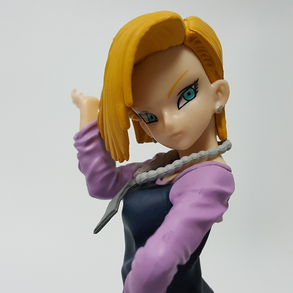 Dragon Ball Z Action Figure Android 18 Lazuli PVC Figure 180MM Dragon Ball SC Lazuli Model Toy DBZ Esferas Del Dragon DB03