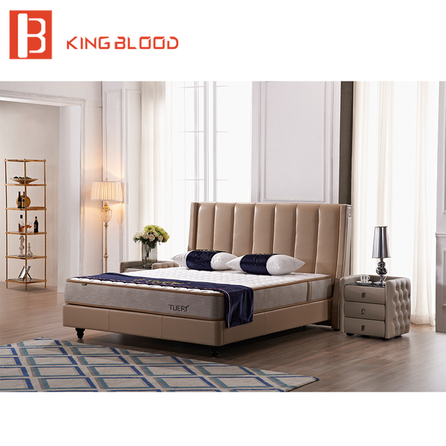 US $684.0 |Newest Italian style queen size genuine leather bed for bedroom  set-in Beds from Furniture on Aliexpress.com | Alibaba Group