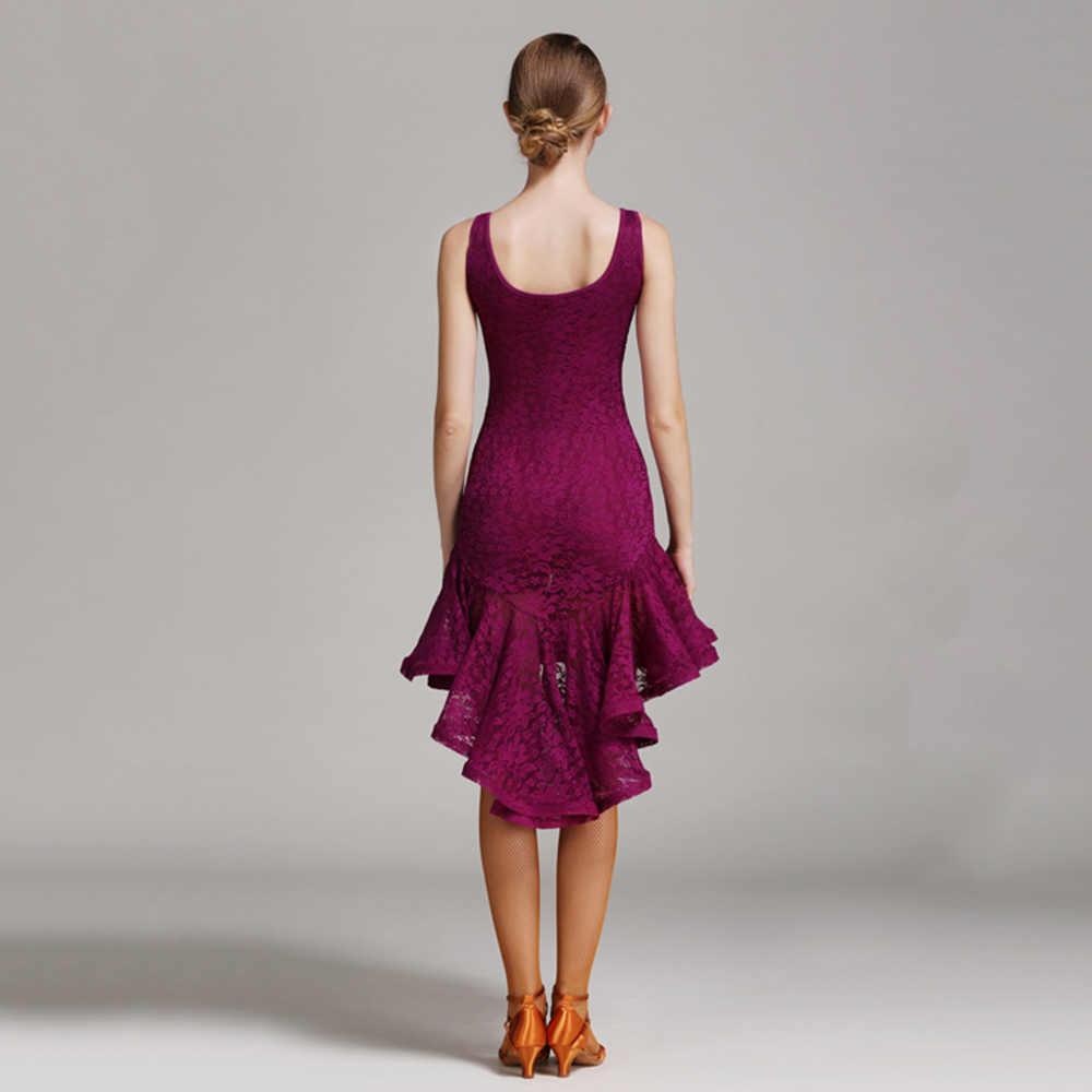 Latin Dance Dress Wanita Tanpa Lengan Tari Salsa Dress Wanita Samba Kostum Karnaval Latina Swallowtail Gatsby Gaun Flapper DQ3042