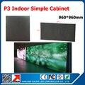 Venda quente! P3 ferro levou exibição gabinete indoor smd rgb P3 painel de led display led tamanho do gabinete 960 mm * 960 mm