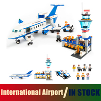 Compatible with lego City Models building toy Building Blocks International Airport Blocks 652pcs toys & hobbies birthday gift