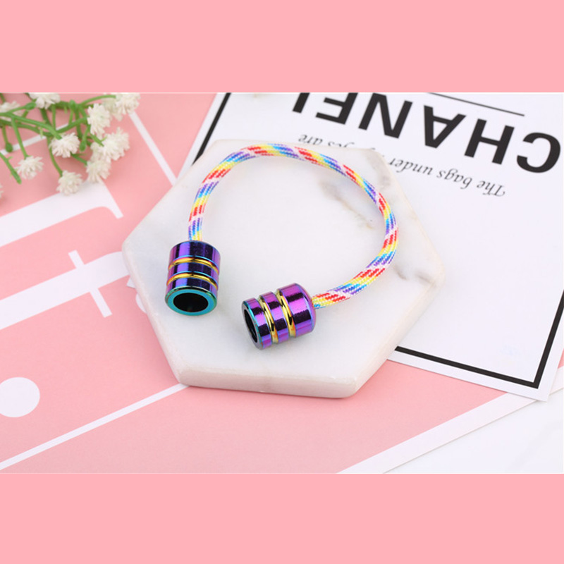 2019 Fashion Aluminum Alloy Begleri Fidget Toy Colorful Worry Beads Finger Skill Paracord Anti Stress Extreme Finger Movement