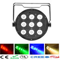 10pcs/lot 9x 12W RGBW DMX Stage Lights Business Light LED Flat Par High Power Light with Professional for Party KTV Disco DJ bar