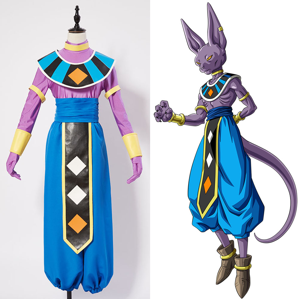 Dragon Ball God Of Destruction Beerus Cosplay Costume For