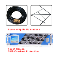 300w 350w FM transmitter Radio Broadcast FM Radio Station Cover Far With CP100 Circularly polarized FM antenna 20m cable kit