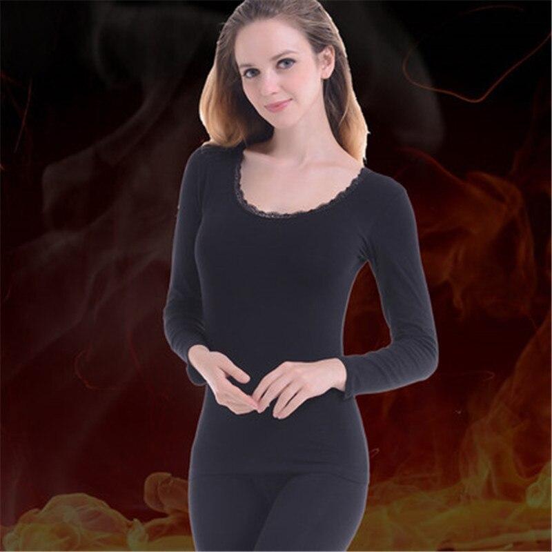New Winter Women's Underwear Set Cotton Fabric Top & Bottom ...