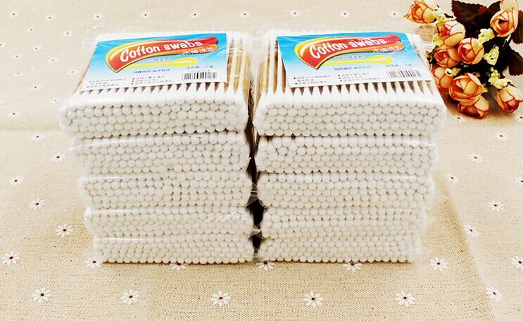 Free Shipping 1000pieces/10packs/lot 7cm/2.76 Inch Cotton Swabs Wholesale