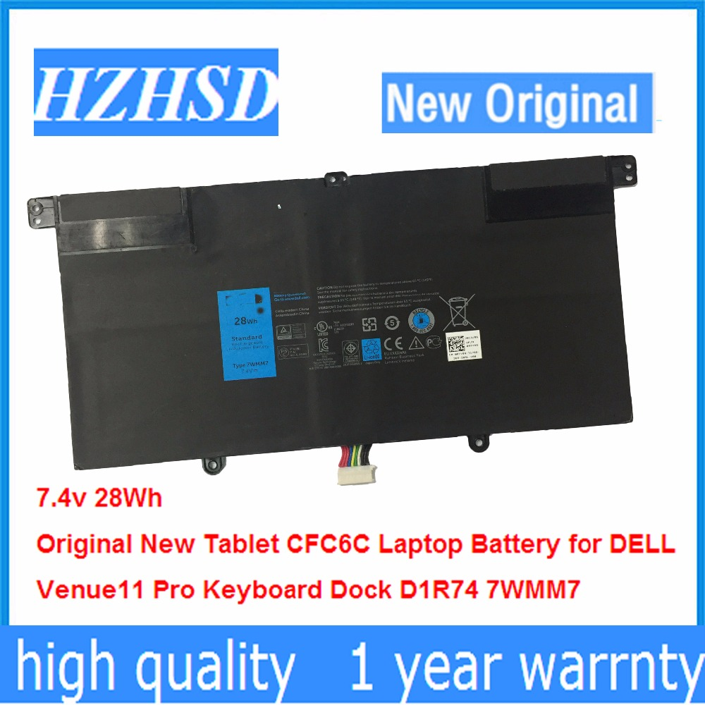 7.4v 28Wh New Original 7WMM7 Tablet CFC6C Laptop Battery for DELL Venue 11 Pro Keyboard Dock D1R74 фильтр maunfeld cf 120