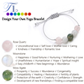 A&N Handmade Healing Bracelets Natural Moonstone Rose Quartz Moss Agate Yoga Bracelet 2017 Hot Sale Friendship Love Bracelets