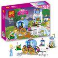 Duploe 122 unids Princess Cinderella Pumpkin Carriage LELE Bloques Huecos de Juguete de Regalo Compatible Legoe Amigos Para Niña