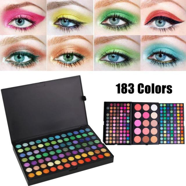 183 Color Eye Shadow Cosmetic Shimmer Matte Eyeshadow Palette Colorful Set Kit Paleta De Sombra Textured Makeup Eyeshadow