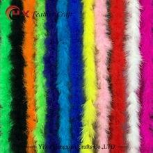 Дешево 10 г 2 ярдов/партия окрашенный смешанный цвет Марабу перо boas для украшения