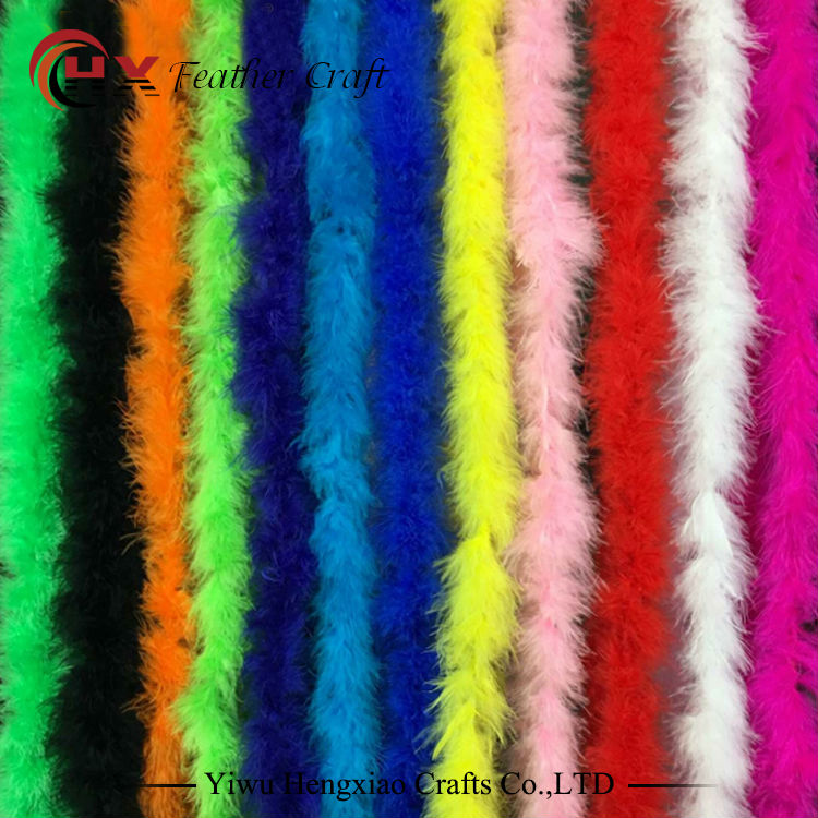 Billig 10g 2yards / lot färbte Mischfarbe Marabou Federboas für Dekoration