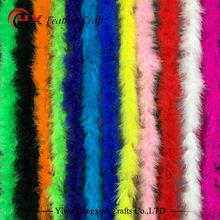 Wholesale Cheap 10g 2yards/lot Dyed Mixed Color Marabou Feather Boas for Decoration