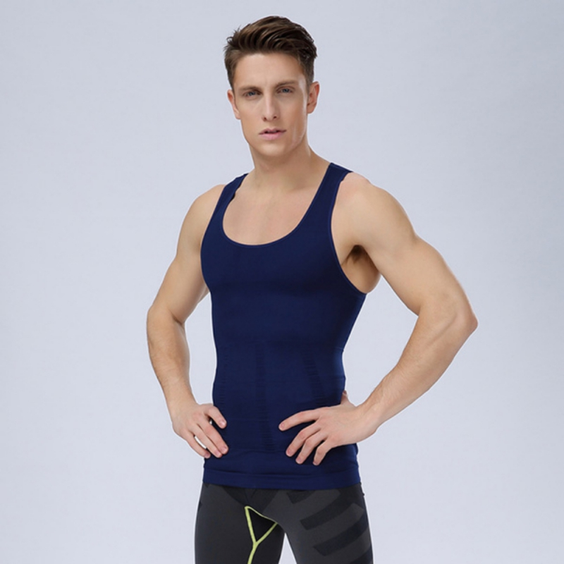 2018New Screaming Retail Price Mens Belly Control Waist Cincher Burning Fat Tee Shirt Vests Shapewear Jersey